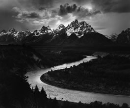 Ansel Adams, Snake River, Grand Teton, 1942 © courtesy Ansel Adams Publishing Rights Trust